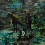 Zwei Pferde, Öl auf Leinwand, 120 x 150 cm, 2014