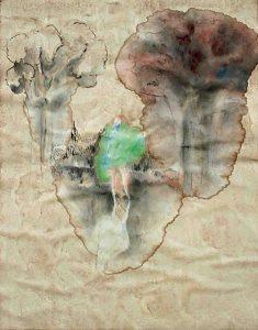 Adoration, Aquarell, 57 x 40 cm, 2009