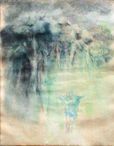 Lichtung, Aquarell, 57 x 40 cm, 2009