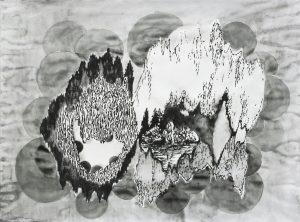 Grotte, Aquarell, Filzstift, Bleistift, 60 x 80 cm, 2009