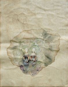 Zwillinge, Aquarell, 57 x 40 cm, 2009