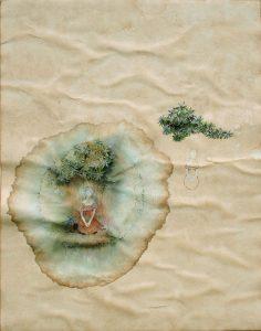 Oase, Aquarell, 57 x 40 cm, 2009