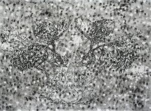 Tattoo, Kohle, Pigment, Stift, 60 x 80 cm, 2009