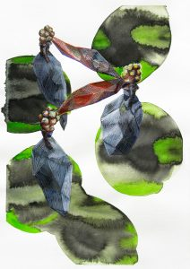 Dots and dolls, Aquarell, 29,6 x 21 cm, 2010