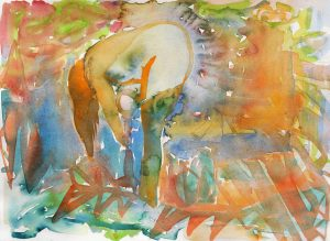 Silent machine, Aquarell, 28 x 38 cm, 2013