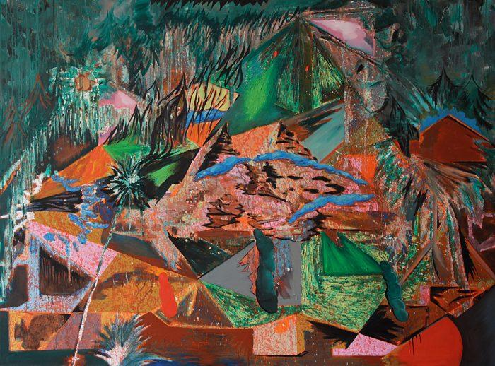 Camping, Öl auf Leinwand, 145 x 195 cm, 2015