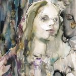 Eden, Aquarell, 76,5 x 57 cm 2018