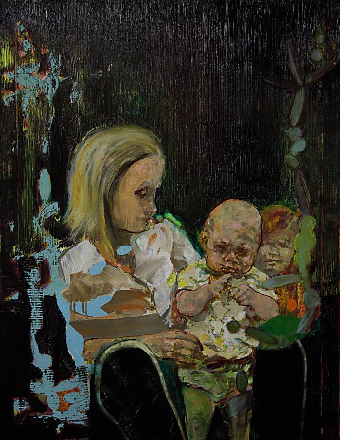 Familie, Öl auf Leinwand, 100 x 80 cm, 2015
