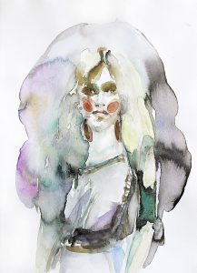 Realistin, Aquarell, 38 x 28 cm, 2018