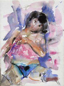 Babydoll, Aquarell, 38 x 28 cm, 2010
