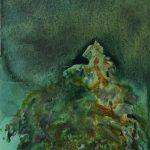 Berg, Öl auf Holz, 40 x 30 cm, 2018