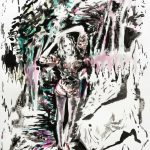 Candy mit Fund, Aquarell, farbige Tusche, 65 x 60 cm, 2011