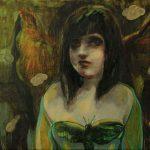 Cosplay Girl, Öl auf Leinwand, 50 x 70 cm, 2017