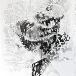 Damaged Queen, Aquarell, 76 x 56 cm, 2010