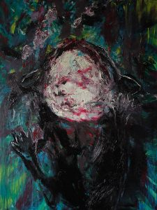 Dead Kitten Peonia Rosa, Öl auf Leinwand, 160 x 130 cm, 2015