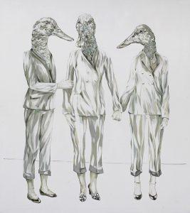 Drei Chiffren, Öl auf Leinwand, 140 x 120 cm, 2018