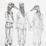 Drei Chiffren, Bleistift, 30 x 20cm, 2016