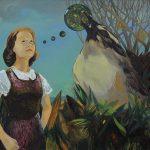 Femme engagée, Öl auf Leinwand, 120 x 150 cm, 2015