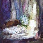 Dunkler Raum, Aquarell, 25 x 20 cm, 2008