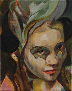 Frau mit Haube, Öl auf Leinwand, 30 x 24 cm, 2017