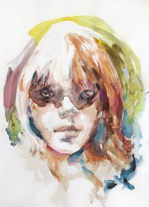 Girl, Aquarell, 76,5 x 57cm, 2018