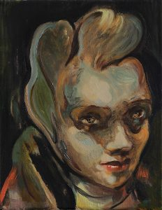 Hasenfrau, Öl auf Leinwand, 30 x 24 cm, 2017