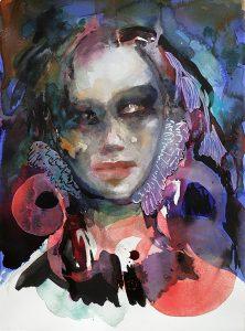 Infantin, farbige Tusche, 38 x 28 cm, 2011