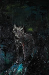 Junger Wolf, 150 x 120cm, 2015