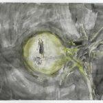 Kleine im Licht, Tusche, Aquarell, 29,5 x 42 cm, 2009