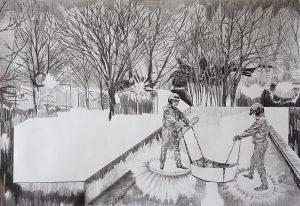 Lasten, Bleistift, 70 x 100 cm, 2015