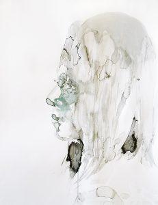 Mädchen, Aquarell, 65 x 50cm, 2018