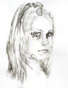 Mädchen, Aquarell, 65x 50 cm, 2011