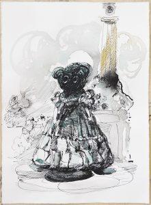Melancholia, Tusche, Aquarell, 26,5 x 19,5 cm, 2018