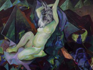Nacht, Öl auf Leinwand, 150 x 200 cm, 2002/2018