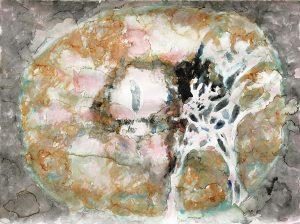 Netzhaut, Aquarell, 60 x 80 cm, 2011