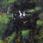 Packpferd, Öl auf Leinwand, 200 x 150 cm, 2018