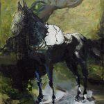 Pferd vor Ruine, Öl auf Leinwand, 150 x 120 cm, 2015