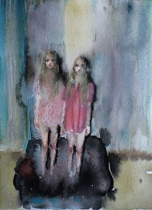 Sessel kaputt, Aquarell, 19 x 14 cm, 2011