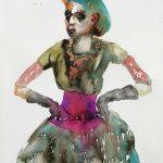 Tänzerin, Aquarell, 38 x 28 cm, 2010