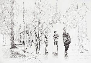Transit, Bleistift, 70 x 10