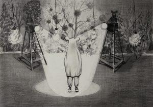 Das Verhör, Bleistift, 30 x 40 cm, 2017