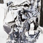 Weide, Tusche, Gouache, 76 x 56 cm, 2011