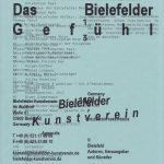 Das Bielefelder Gefühl Bielefelder Kunstverein 2009