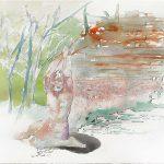 Moor, Aquarell, 28 x 38 cm, 2005