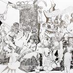 Nach dem Glück, Bleistift, 100 x 120 cm, 2014