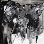 Teddy, Tusche, Gouache, 70 x 50 cm, 2010