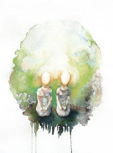 Zwillinge Insel, Aquarell, 38 x 28 cm, 2008