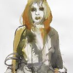 Damaged Queen, Aquarell, 76,5 x 57 cm, 2010