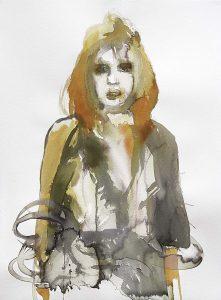 Damaged Queen, Aquarell, 76,5 x 57 cm, 2010