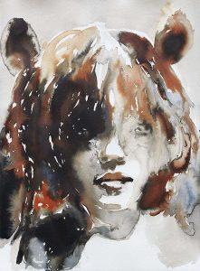 Teddygirl, Aquarell, 76,5 x 57 cm, 2010